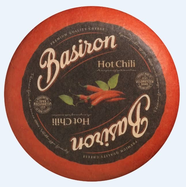 Spicy hard cheese from the Basiron series