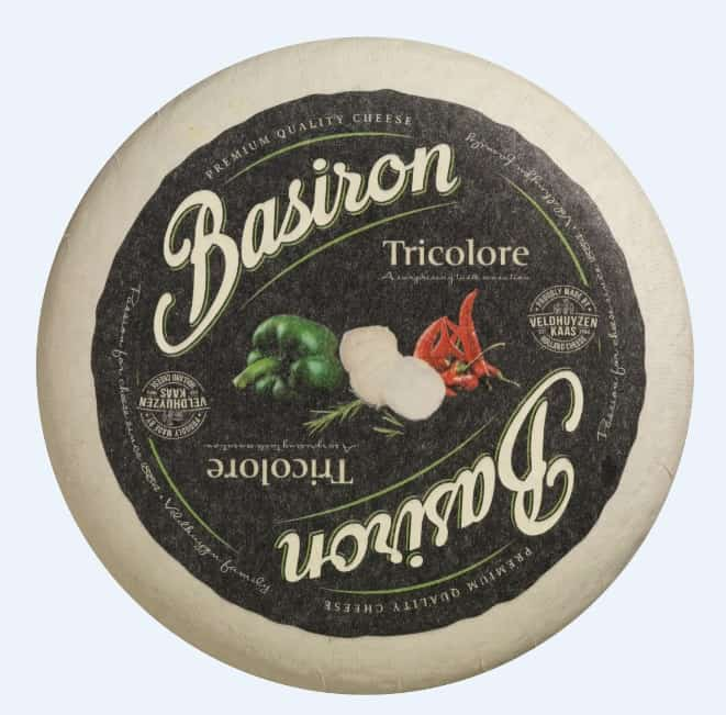 Hard cheese with the addition of hot peppers from the Basiron series