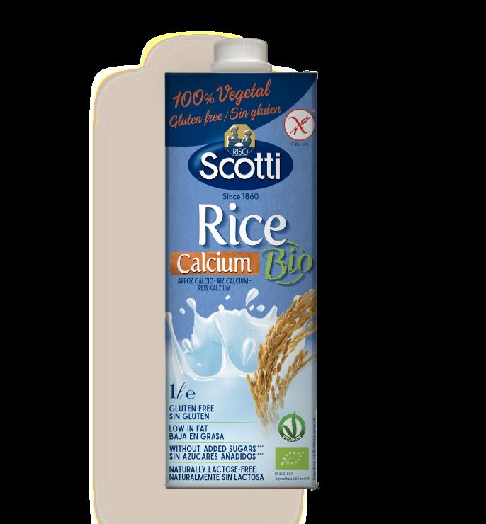 Gluten-free rice drink with no added sugar