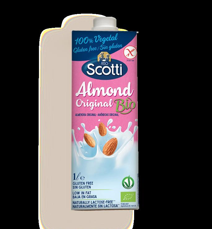 Almond drink without added gluten-free sugar